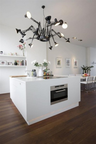 White square kitchen (with Dear Ingo lamp)