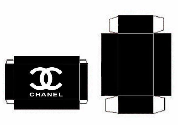 Cajitas de Chanel para Imprimir Gratis.   Ideas y material gratis para fiestas y celebraciones Oh My Fiesta!