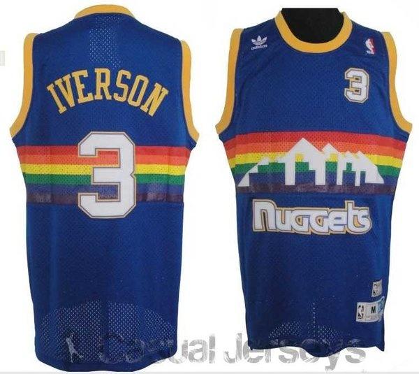 Camiseta retro de Allen Iverson, Denver Nuggets - Camisetas NBA 2012 - Tienda Casual Jerseys