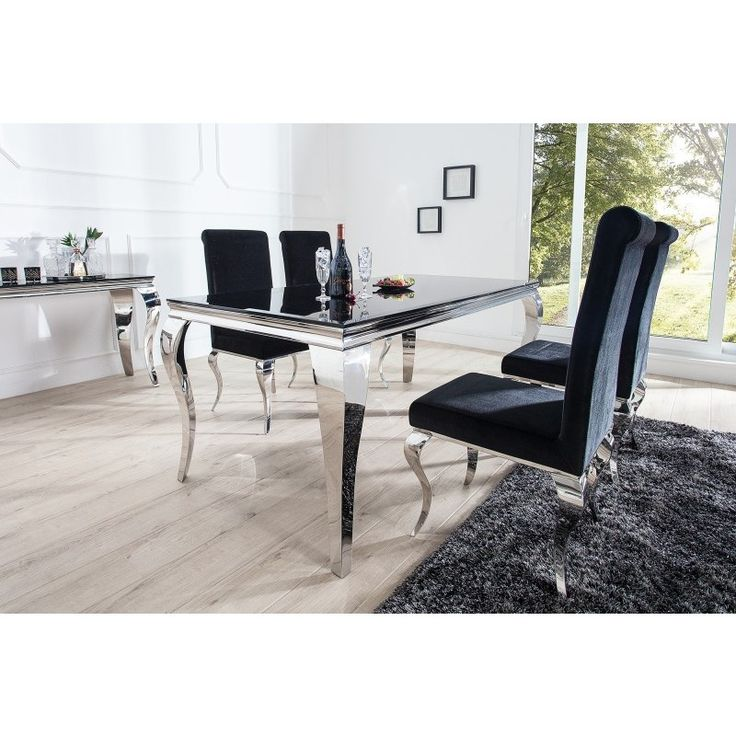 Eettafel Modern Barock 200cm Zwart   37356