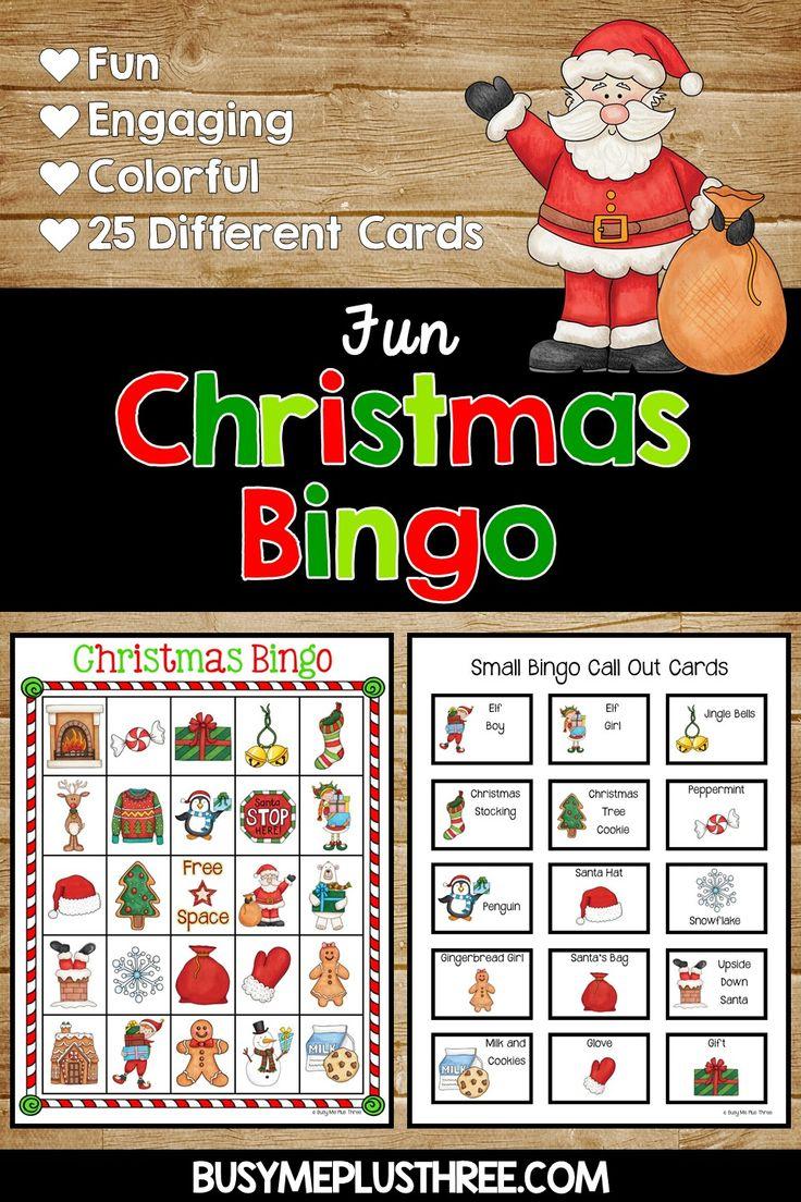 Christmas Bingo Activity Game {25 Different Bingo Cards