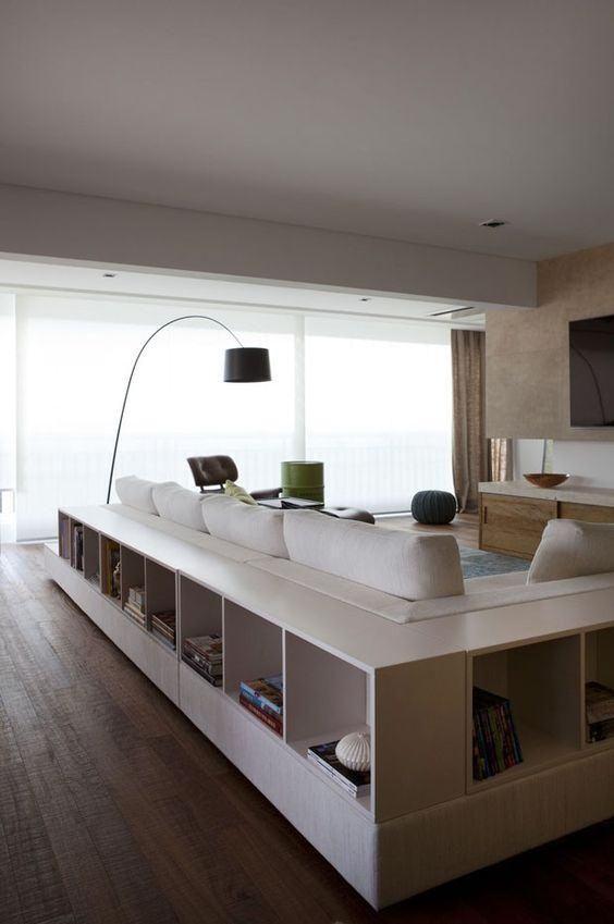 Dekoration hinter dem Sofa: 60 Sideboards, Bänke und