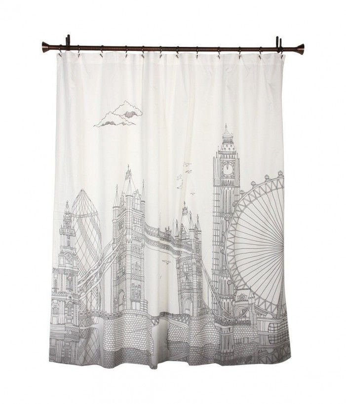 18 best skyline shower curtain images on pinterest for London themed bathroom accessories