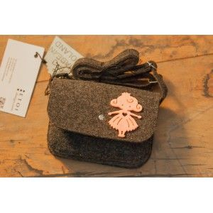 Etoi Design - szara torebka z dziewczynką