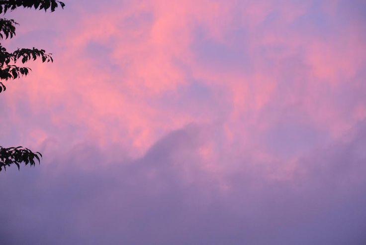 ちょっと前の空~~夕焼け~~♪ #空 #イマソラ #夕焼け