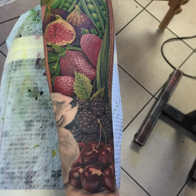 Produce by Ryan Flaherty at Pioneer Tattoo in Chicago