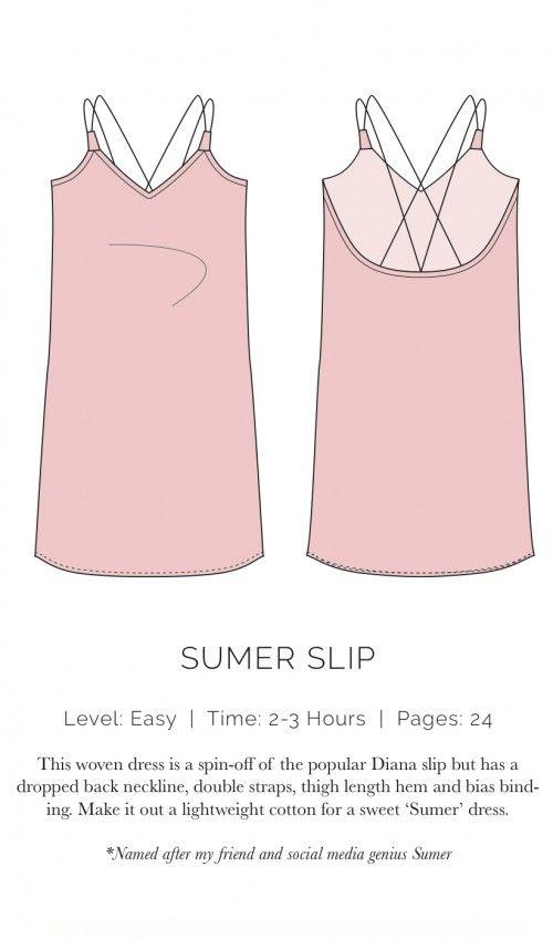 Spaghetti Träger Kleid - Sumer Slip Dress, XS-XL, sicher auch toll als Nachthemd