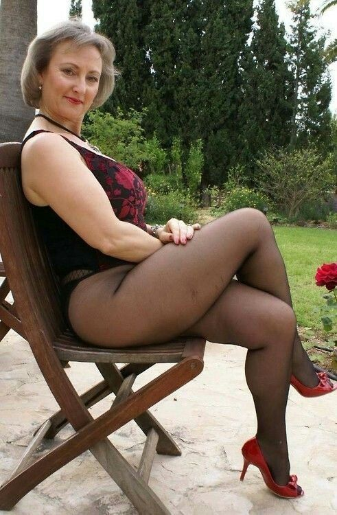 50 plus women upskirt wearing stockings