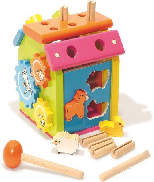 Inspiring Toys - Vilac Wooden Activity Farm, £28.99 (http://inspiringtoys.co.uk/vilac-wooden-activity-farm/)