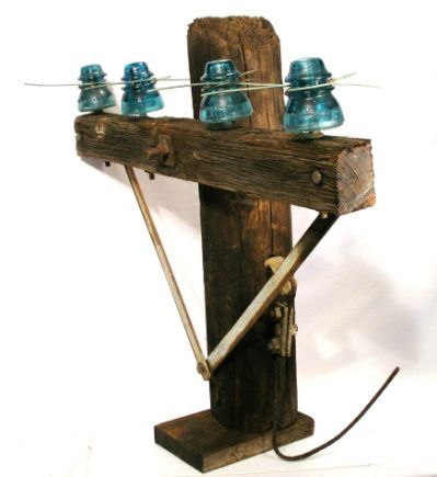 Antique Telegraph Insulators Pole