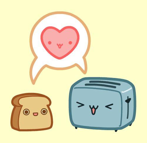 Kawaii Toast and Toaster Love by nickbachman.deviantart.com on @deviantART