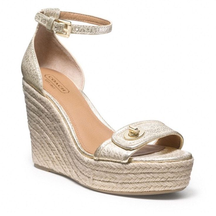 New Pretty Coach Wedges On The Way   Womens Shoes -7645