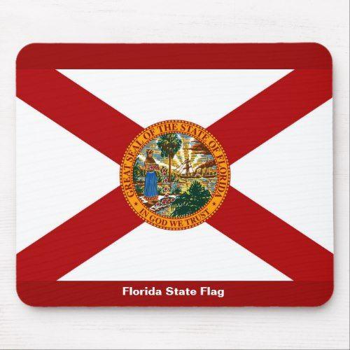 Florida State Flag Mouse Pad Zazzle Com Florida State Flag State Flags Florida State
