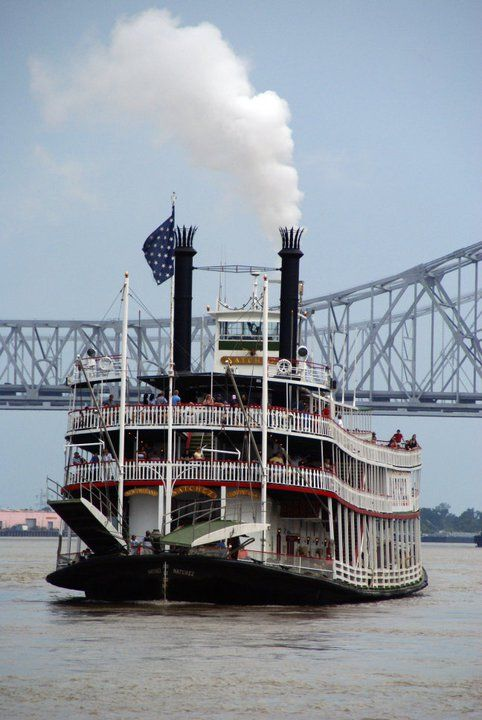 Delta Queen paddleboat in New Orleans, Louisiana - we took a tour ride on the Mississippi River to Calumet and back one afternoon during a stay in New Orleans.