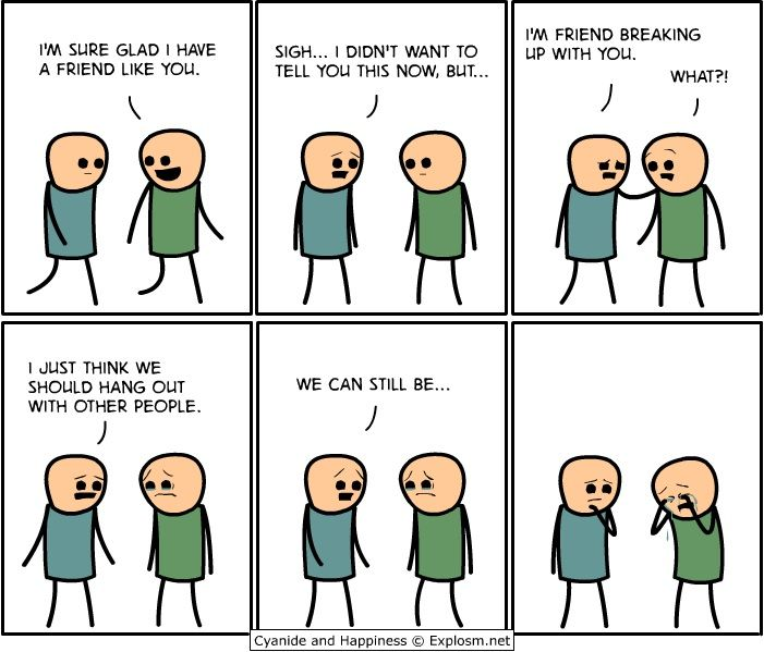 Image result for friendship break up comic