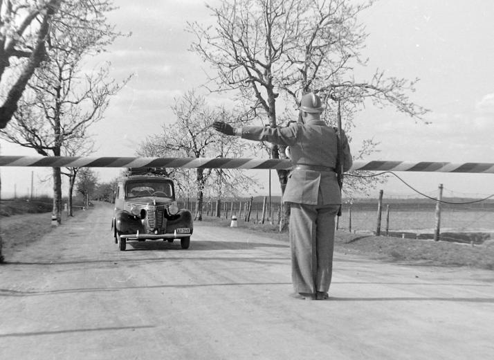 Hraničný priechod Rusovce (Čunovo) - Rajka rok: 1950