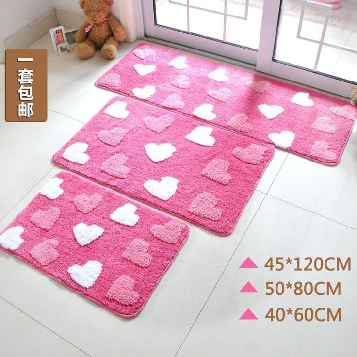 Bright Pink Bathroom Rugs