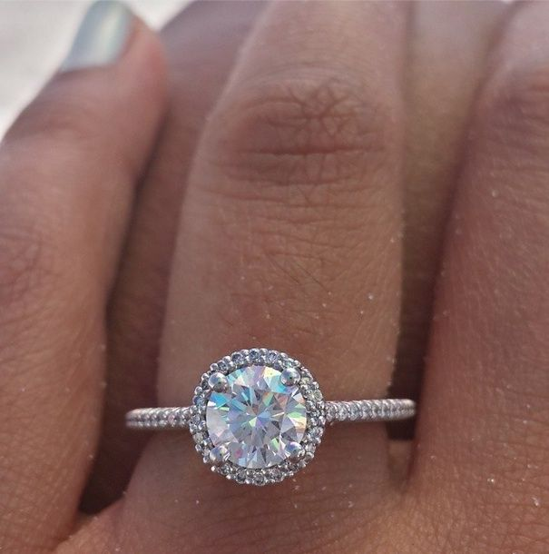 ritani french set round halo engagement ring at beverlys jewelers engaging south florida for - Ritani Wedding Rings