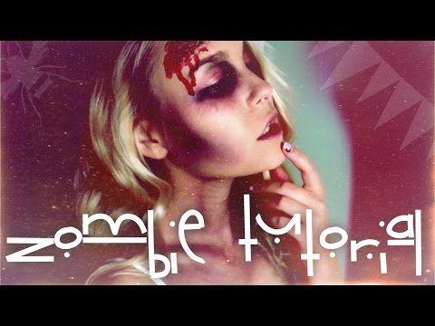 EASY ZOMBIE HALLOWEEN-TUTORIAL | Dagi Bee - YouTube