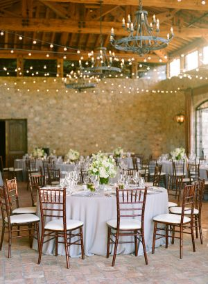 Rustic Elegant Reception - dressed up and made special with string lights. (Can I do this in HollyHedge?)