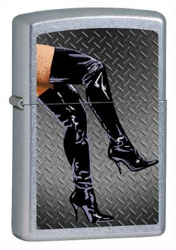Zippo Custom Lighter - Sexy Lady Legs in Black Boots Untamed Wild Woman Logo by Zippo. $31.95