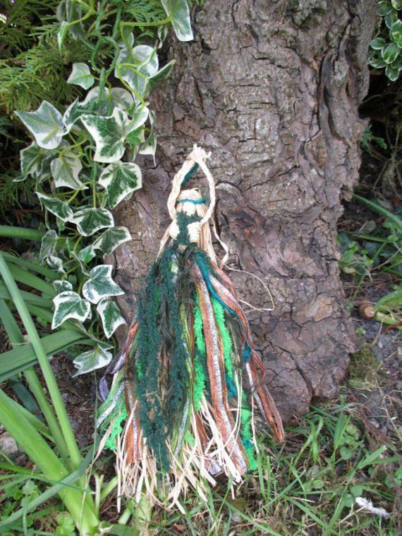 Handmade Positively Pagan Earth Mother Corn Dolly Goddess