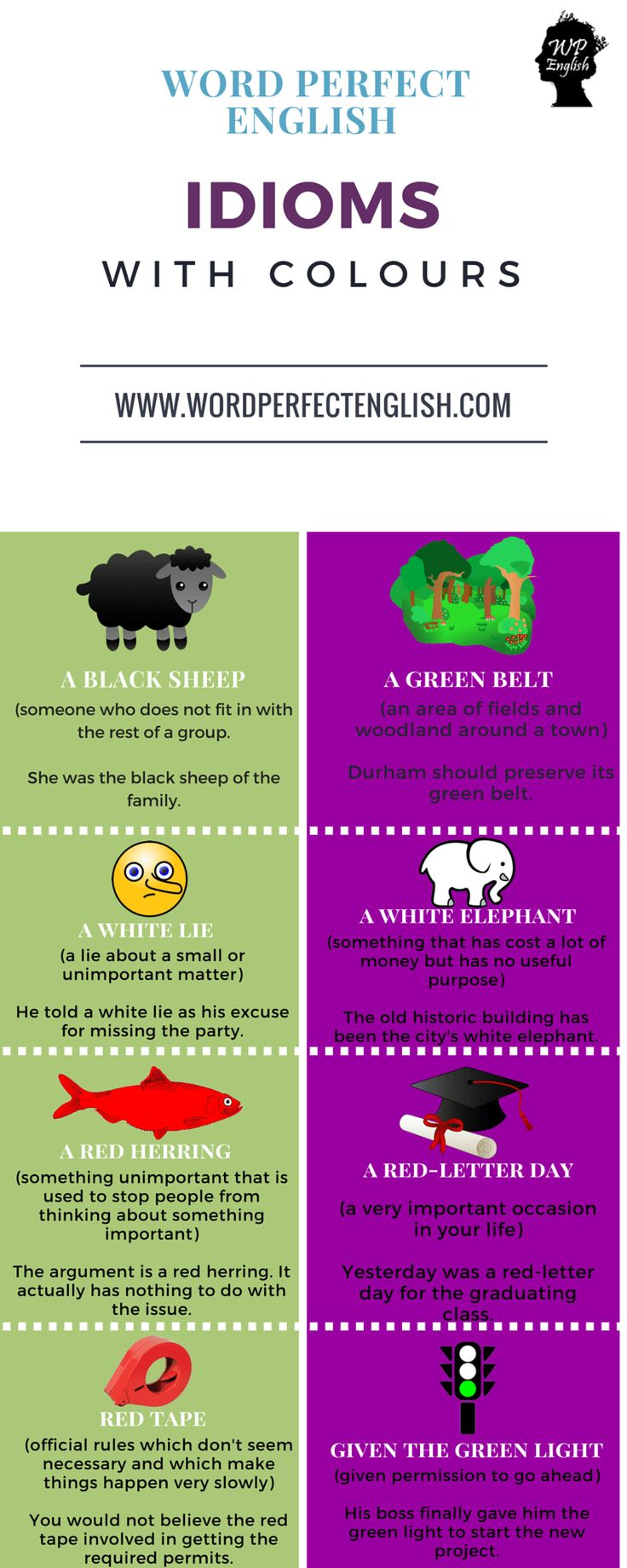 Idioms with Colours 1/2