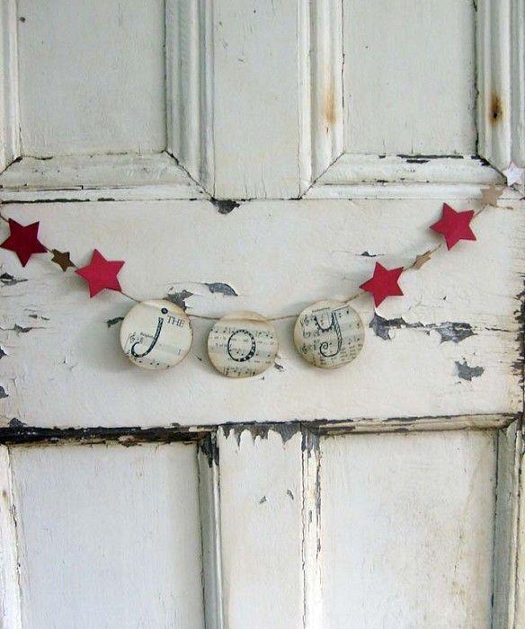 JOY Mini Christmas Bunting
