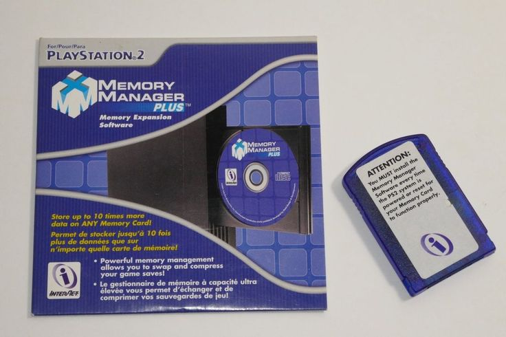 GameShark Memory Manager Plus Memory Expansion Software for PS2 PlayStation 2