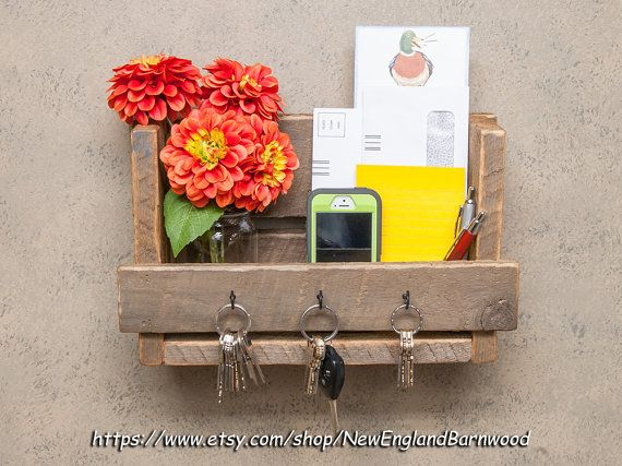 WALL MAIL ORGANIZER -Letter Holder,Key Organizer,Mail Holder,Mail Organizer,Message Board,mail and key rack,key holder, Wall mail organizer