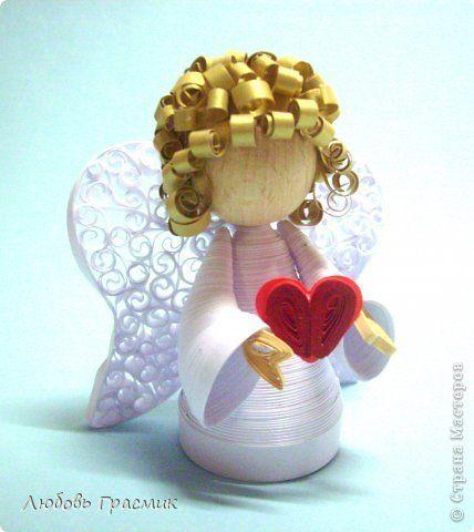 Produse de artizanat Quilling Quilling hârtie Angels 1 Fotografii