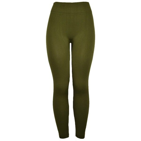 143Fashion Stretch Thick Leggings ($4.50) ❤ liked on Polyvore featuring pants, leggings, stretch trousers, stretchy leggings, stretchy pants, legging pants and green stretch pants