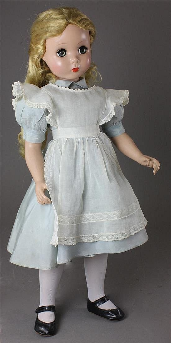 "20"" HARD PLASTIC MADAME ALEXANDER MAGGIE FACE ""ALICE IN WONDERLAND"""