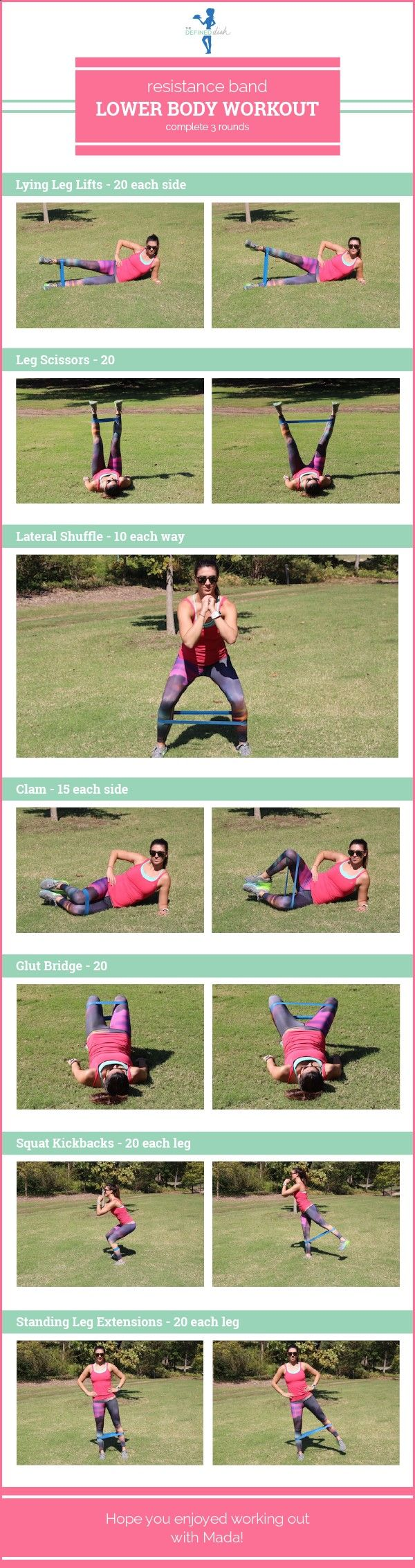 Yoga Fitness Flat Belly Resistance Band Lower Body Workout | The Defined Dish - There are many alternatives to get a flat stomach and among them are various yoga poses.