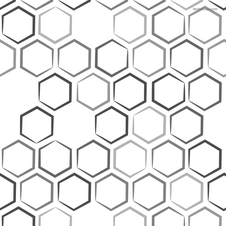Hexagon (honeycomb) pattern, free vector