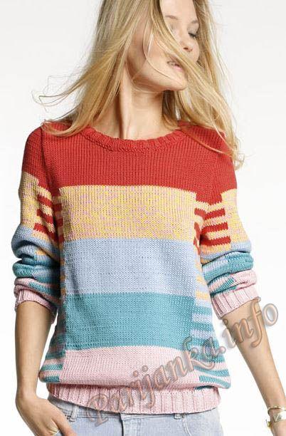 Пуловер (ж) 19*104 Phildar №4022