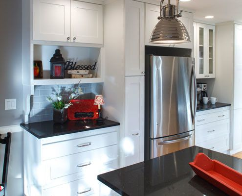 Best White Black Grey Kitchen Images On Pinterest Accent