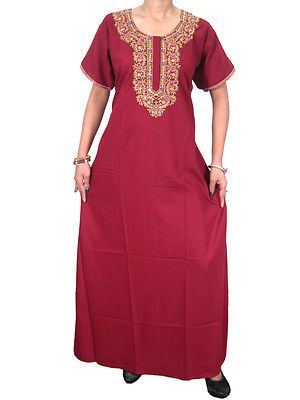 BOHEMIAN-WOMEN-INDIAN-KAFTAN-NECK-EMBROIDERED-RED-COTTON-HIPPY-MAXI-DRESS-M  http://stores.ebay.com/mogulgallery/CAFTANS-/_i.html?_fsub=665713919&_sid=3781319&_trksid=p4634.c0.m322