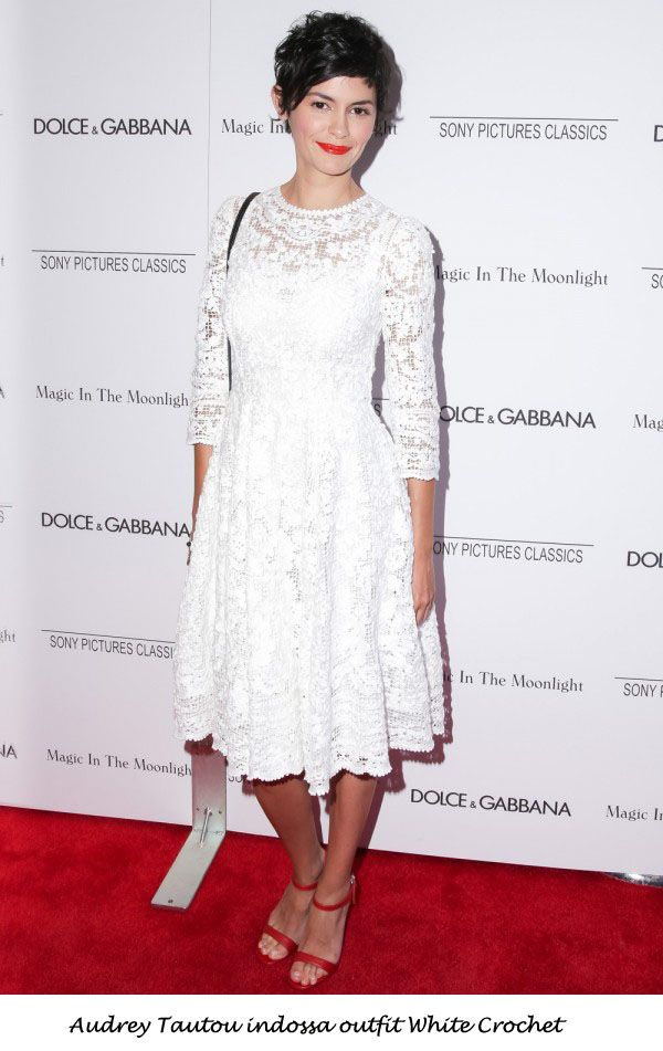 Audrey Tautou indossa outfit White Crochet