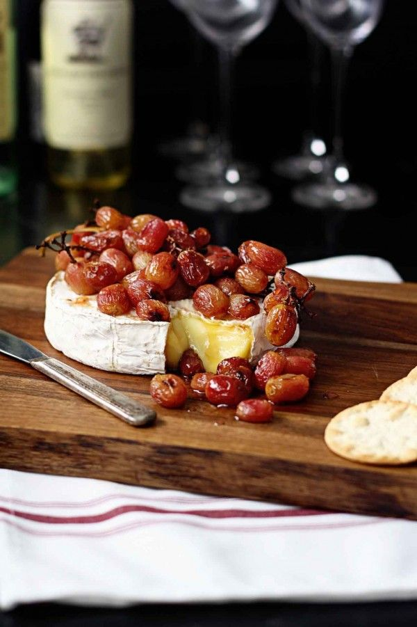 Roasted Grape Baked Brie