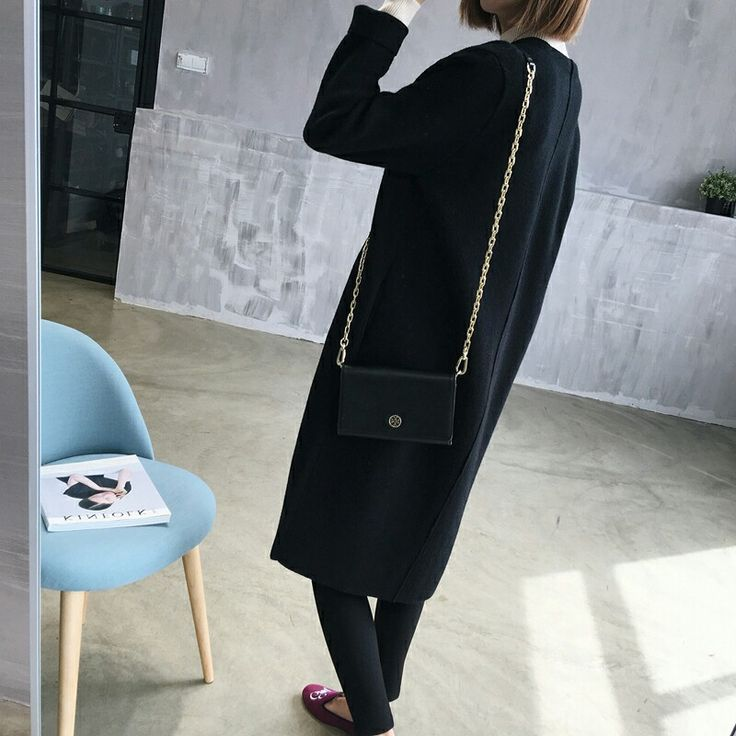 new Black long coat for sale