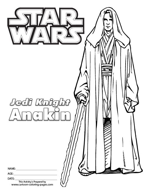 Star Wars Episode 3 Coloring Pages Black White