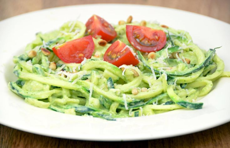 Recept: Courgetti Pesto Light