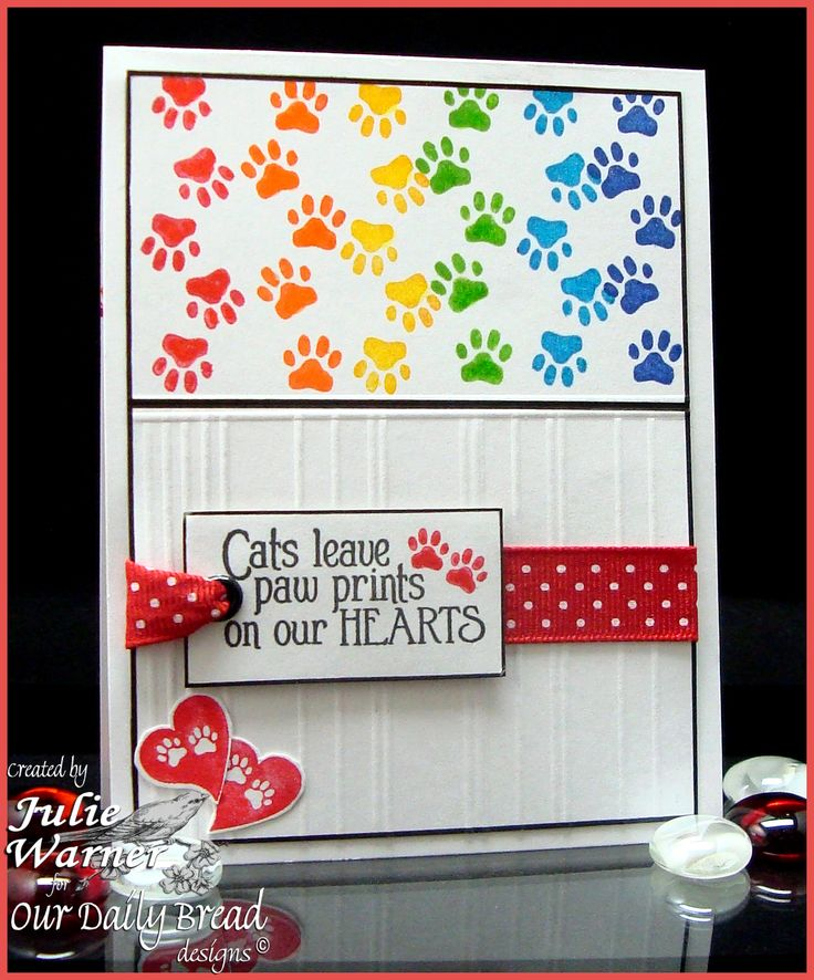 card -cat, cat sympathy (reminder to self...a pawprint says a thousand words! Probably would do more somber colors, although rainbow bridge and all that...)