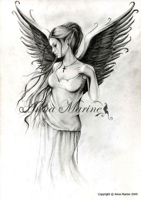 Fallen Angel. Art. Anna Marine.