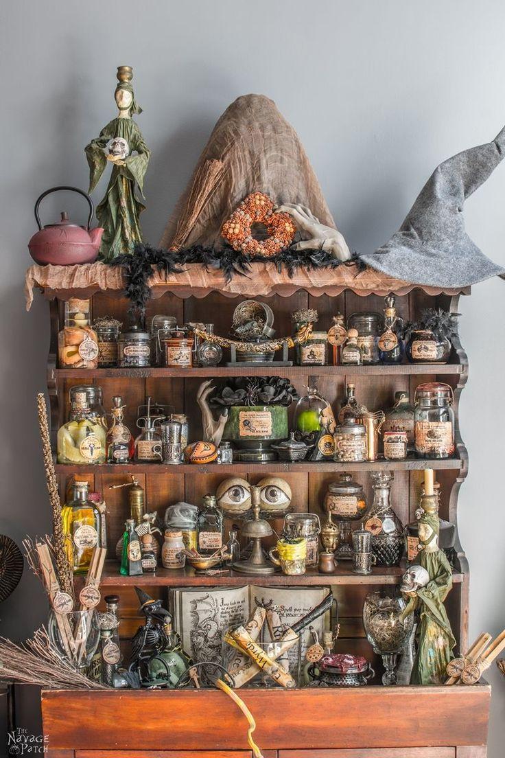 Free printable Halloween apothecary jar labels