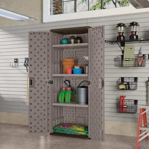 Fresh Suncast Wall Mounted Utility Storage Cabinet
