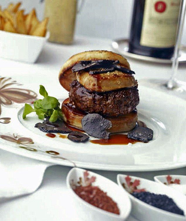 This delicious burger will set you back $5,000 (£3,380) if you decide to order it. It comes with a bottle of Chateau Petrus, which is valued at $2,500 (£1,690) value