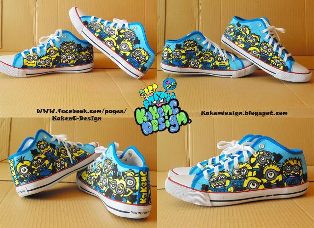 KakenC Design.: Minion shoes_custom hand-painted