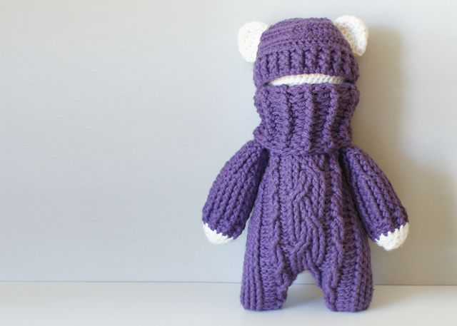 2015027 Crochet Cable Teddy Bear Stuffie — Midknits